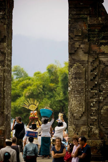 Tourist travel in Bali Bali Healing Spirituality Travel Culture Heritage Building Leisure Activity Outdoors Real People Travel Destinations