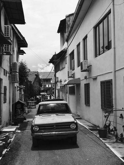 Malaysia Streetphotography Penang Street Cars Voiture Rue Noir Et Blanc Blackandwhite