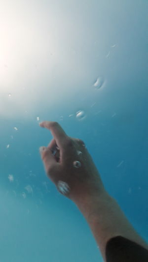 Pool Water Underwater Waterbubble UnderSea Human Hand Swimming Water Sea Life Underwater Swimming Pool Blue Close-up Underwater Diving Diving Into Water