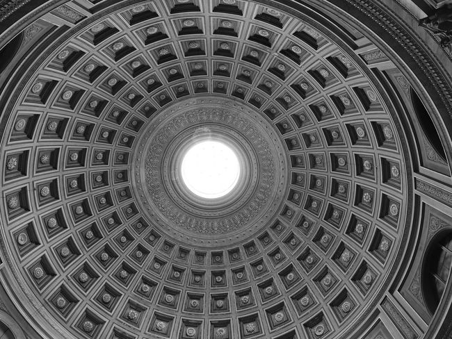 Architectural Design Architectural Feature Architecture Building Exterior Built Structure Ceiling Cupola Day Dome History Indoors  Low Angle View No People Pattern Place Of Worship Travel Destinations Vatikan
