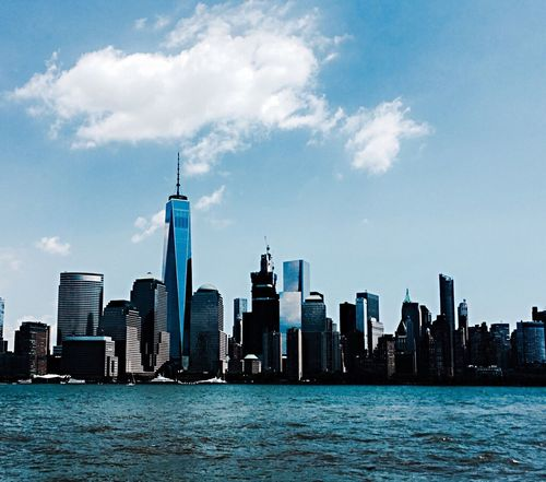 Skyscraper Tall - High City Waterfront Architecture Urban Skyline Cityscape Tower Travel Destinations Water Sky Sea No People New York Newyork New York City Newyorkcity Newyorknewyork New York, New York New York City Photos New York Skyline  New York ❤ Manhattan