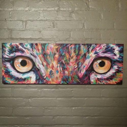 Latest tiger eyes. Caseyoneillart Torontoartist