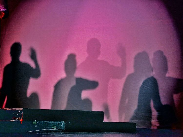 community theater! rehearsal Silhouettes @ the Burton Leavitt Theatre. Silhouette Shadows On Stage Theater Performance Light And Shadow Purple Glitch The Street Photographer - 2016 EyeEm Awards
