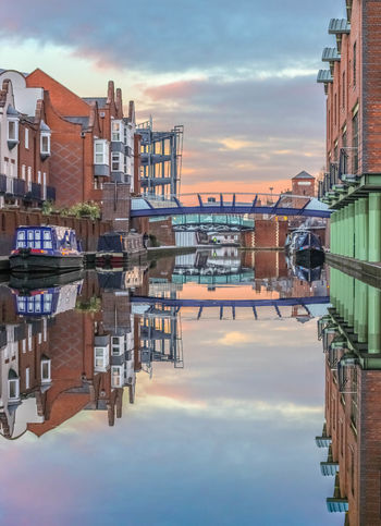 A reflection at the canals in Birmingham city centre Reflection Canals Canon 600D 50mm 1.8