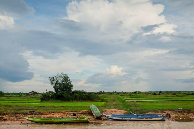 Tonlesap Sky Nature Tree Tranquility Cloud - Sky Beauty In Nature Tranquil Scene Growth No People Grass Landscape Fujifilmru Fujifilm Fujifilm_xseries Field Scenics Day Outdoors Water Finding New Frontiers