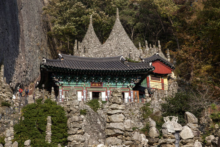 Tapsa, a Buddhism Temple in Maisan, Muan, Jeonbuk, South Korea Ancient Ancient Civilization Architecture Buddhism Building Exterior Built Structure Cultures Day Eaves Flower History Maisan Nature No People Outdoors Place Of Worship Plant Religion Tapsa Temple Tradition Travel Destinations Tree