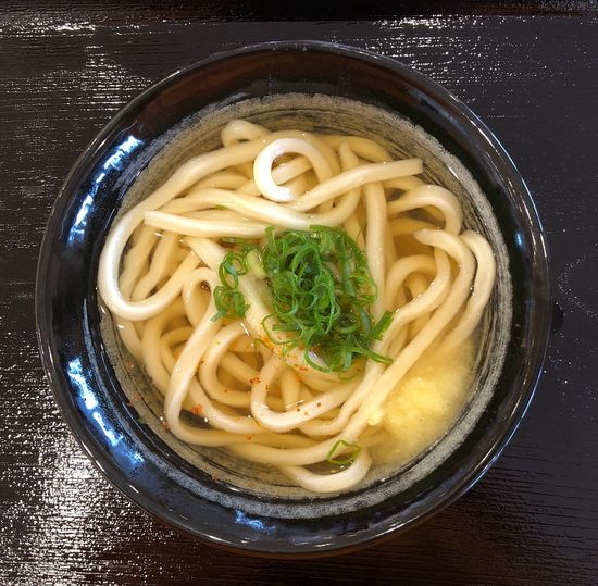 High angle view of soup in bowl