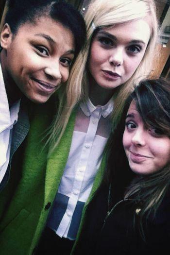 meeting Elle Fanning in Paris