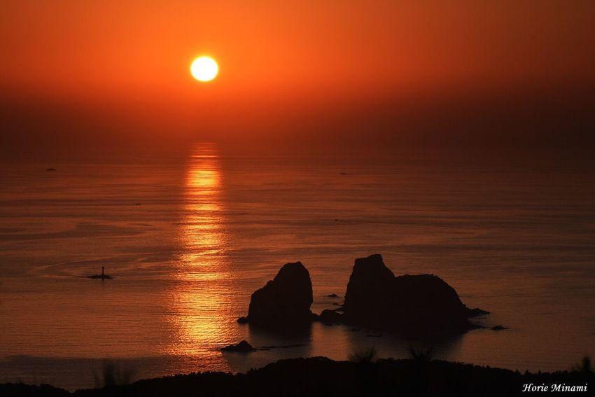 Sunset Orange Color Horizon Over Water Landscape The Week On EyeEm Week On Eyeem EyeEm Team EyeEmNewHere EyeEm Best Shots Japan 長崎市 角力灘 あぐりの丘