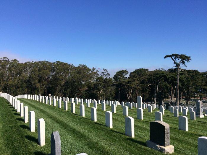 San Francisco National Cemetery Against Clear Blue Sky