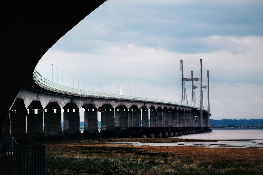 Severn bridge Architecture No People Built Structure Bridge - Man Made Structure Outdoors Water Landscape Eyeemphotography Nikon_photography_ EyeEm Best Shots NIKON D5300 EyeEmBestPics Wales England Ukarchitecture Severn Bridge