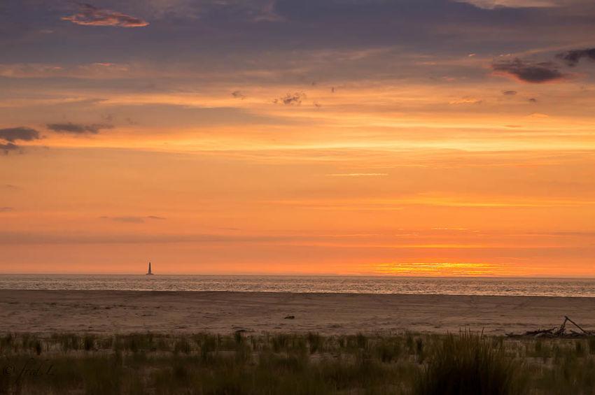 Sunrise Sun Beach Ocean Lighthouse