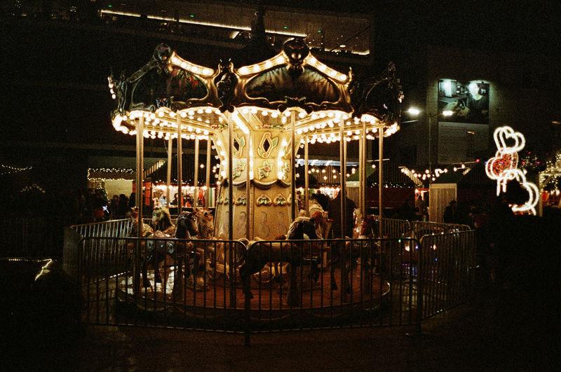35mm film Analogue Photography 35mm Film Film Photography Kodak Portra Kodakfilm Carousel Merry-go-round Amusement Park Ride Illuminated Arts Culture And Entertainment Carousel Horses Amusement Park Enjoyment Fun Recreational Pursuit