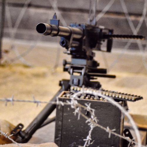 Warzone Photography Machine Gun Heavy Metal Artillery Army Barbed Wire Soldier Field Defence Protection Steel Military Dust Sand Duty Outdoor Photography Going The Distance