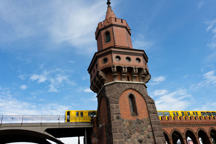 The Train Berlin Berlin Photography Arch Architecture Berlinstagram Bridge - Man Made Structure Building Exterior Built Structure City Clock Tower History Low Angle View Outdoors Sky Train Travel Destinations Mobility In Mega Cities