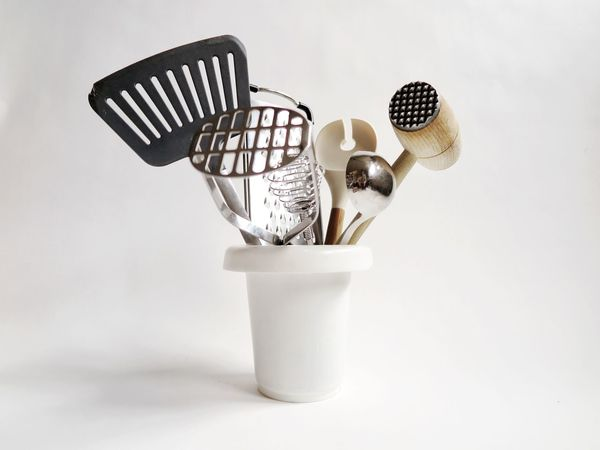 White Background No People Fork Studio Shot Indoors  Close-up Day Cooking Kitchen Kitchen Utensils Kitchen Art Kitchen Life Kitchen Things Kitchenware Kitchen Equipment Cooking Equipment Still Life Creativity Creative Ladle Grater Bowl Metal Silver Colored Silver - Metal Food Stories