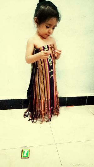Use kwatek the local traditional clothes in NTt One Girl Only First Eyeem Photo Nature