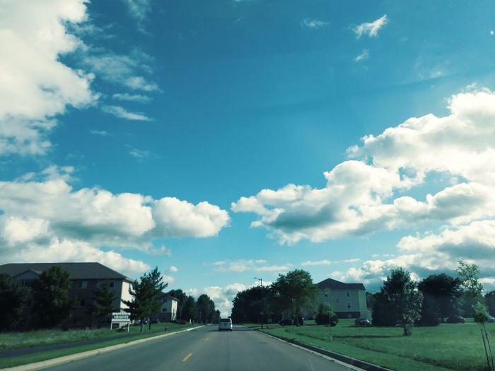 Cloud - Sky Sky Tree Day Road No People Outdoors