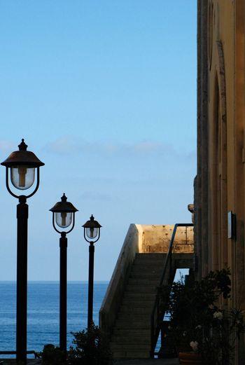 Architecture Blue Built Structure Clock Day Eolie Islands Lighting Equipment No People Outdoors Sicilian Memories Sky Street Light Summer Memories 🌄 Time