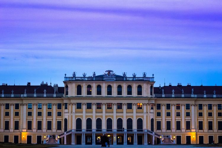 Schloss Schönbrunn captured at the first spring sunset Vienna Monuments Viennamood Schlossschönbrunn Royalcastle Sky Sunset Urbanphotography Architecture Eyemphotography EyeEmNewHere Perspective Eye4photography  Mood Politics And Government City Illuminated Statue Cityscape Sculpture Government Façade Clear Sky Sky Orange Color Palace Royal Person Renaissance Monument Royalty