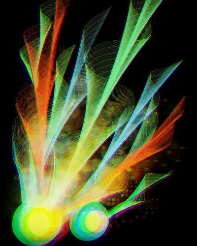 Comets Digital Art Colorful