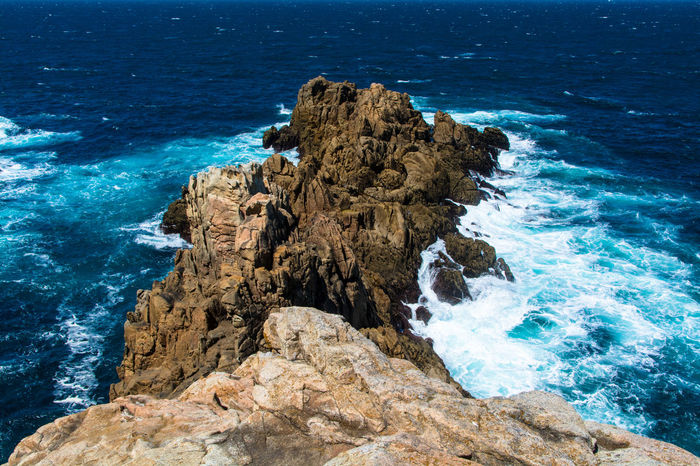 Ancient Rocks Rough Sea Sea And Rocks Sea Foam Atlantic Ocean Galicia, Spain Blue Ocean Seascape Seaside La Coruña Landscapes With WhiteWall