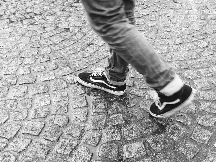 Enjoying Life Dam Place.Amsterdam. Empedrado Floor Rock Balck And White Blackandwhite Photography