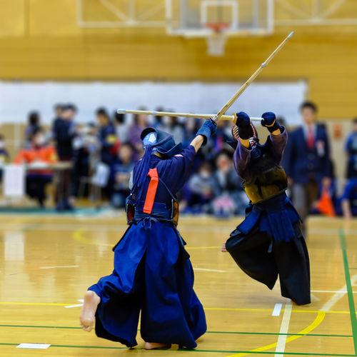 Women Fighting Kendo