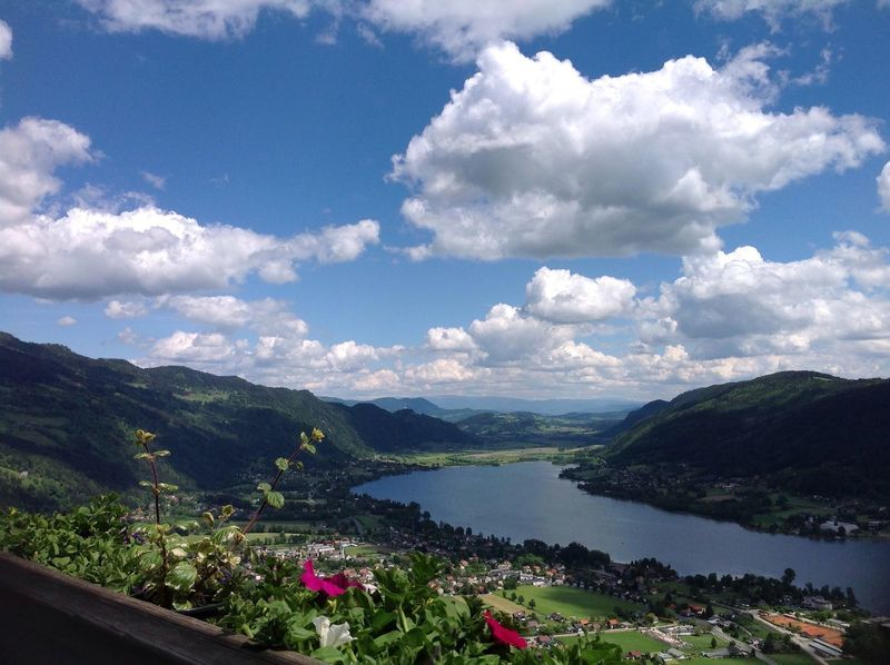 Beauty In Nature Nature Sky Scenics Cloud - Sky Mountain Day Tranquil Scene Tranquility Growth Outdoors Landscape Mountain Range No People Water Plant Lake Tree Flower Freshness Ossiacher See Österreich
