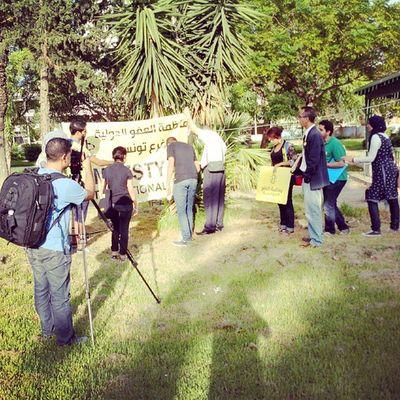 Arrivée d'Amnesty au sitin FreeJabeur