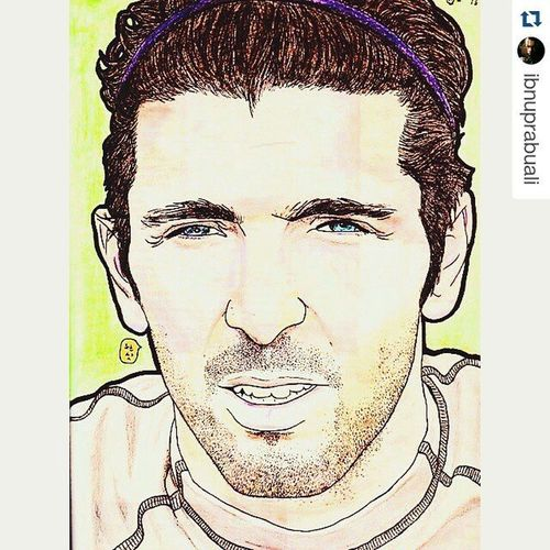 Repost @ibnuprabuali with @repostapp ・・・ Art Illustration Drawing Draw Picture Photography Artist Sketch Sketchbook Paper Pen Pencil Artsy Instaart Gallery Masterpiece Creative Instaartist Graphic Graphics Artoftheday Euro2000 Italia Buffon gianluigibuffon juventus goalkeeper football soccer