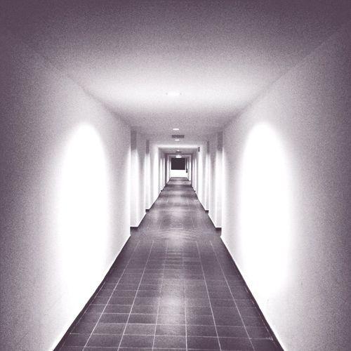 Empty corridor of tunnel