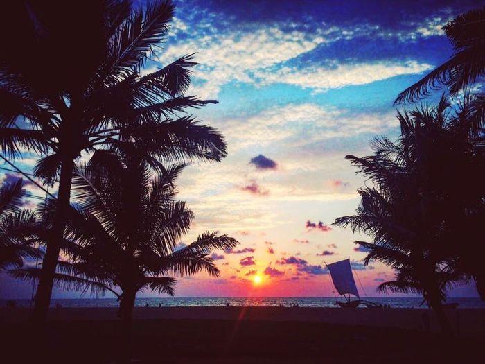 Negombo Sunset Sundown SriLanka Beach Travel Ceylon Western Sea Seabreez Nature Discover Sri Lanka with us. Visit www.rapidadventures.lk for your Sri Lanka tour.