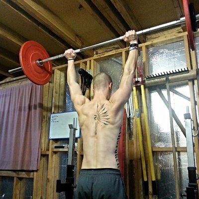 Late night pressing. Strongman Crossfit Strength Fitness Crossfitaustralia Unbroken Press Tattoo