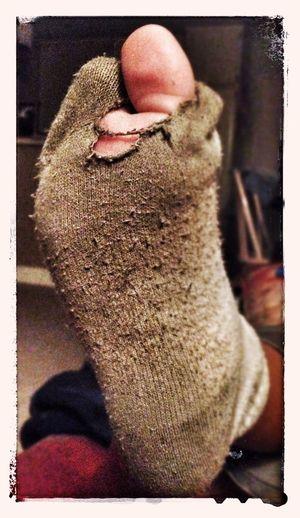 playing hard Socks