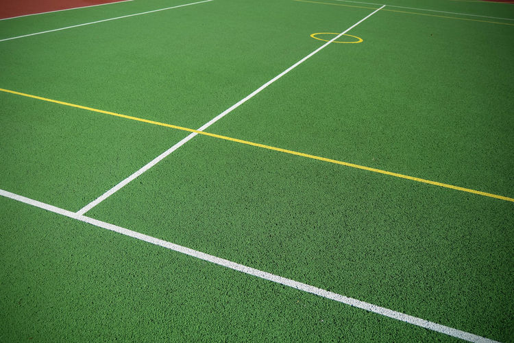 Artificial Grass Astro Turf Competition Court Day Grass Green Color Leading Lines Line Marking No People Outdoors Sport Sports Court Yard Line - Sport