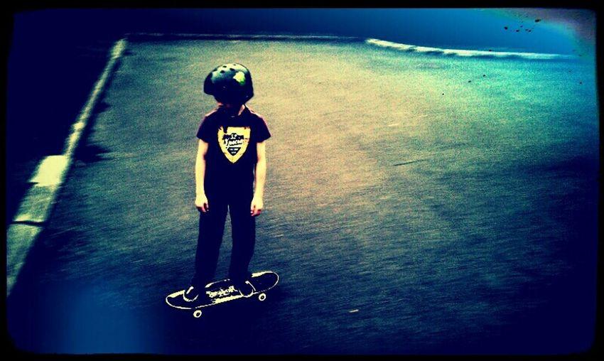 Hanging Out Having Fun Boarding Kids Skateboarding Sport
