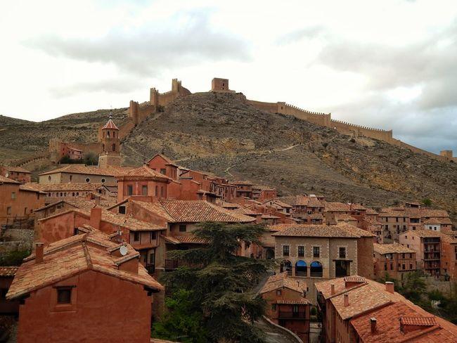 Architecture Building Exterior Outdoors History Travel Destinations Medieval Medieval City Landscape Mountain Castle Albarracín Teruel Aragón SPAIN