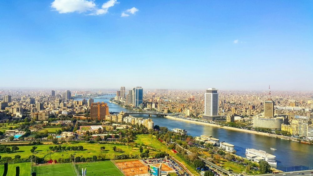 Cairo from above Cityscape City Sky Building Exterior High Angle View Cloud - Sky Urban Skyline Outdoors No People Cairo Tower Cairo Egypt Nile River NileRiver NILE VIEW