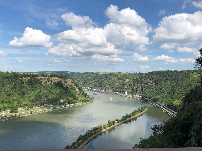 Blick vom Loreleyfelsen Cloud - Sky Sky Water Plant Tree Beauty In Nature Scenics - Nature Nature No People River Outdoors Day