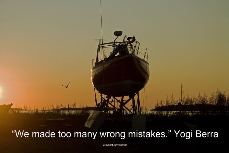 #Quotograph: The ever-quotable #YogiBerra comments over a drydocked #sailboat near #SacoMaine Dry Q Quotograph Quotography Sail Sailboat Sunset Yogi Feet