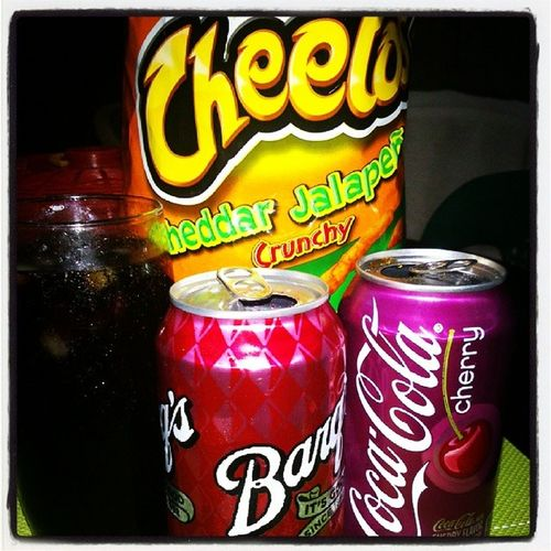 Breakfast while watching Scandal SE3 OliviaPope Barqs Cokecherry Jalapeno