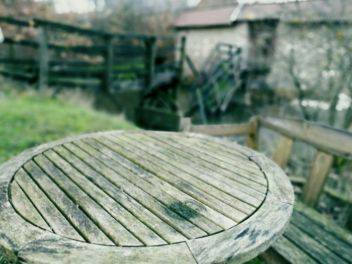 Outdoor Lost Place Focus On Foreground Wood - Material Castle