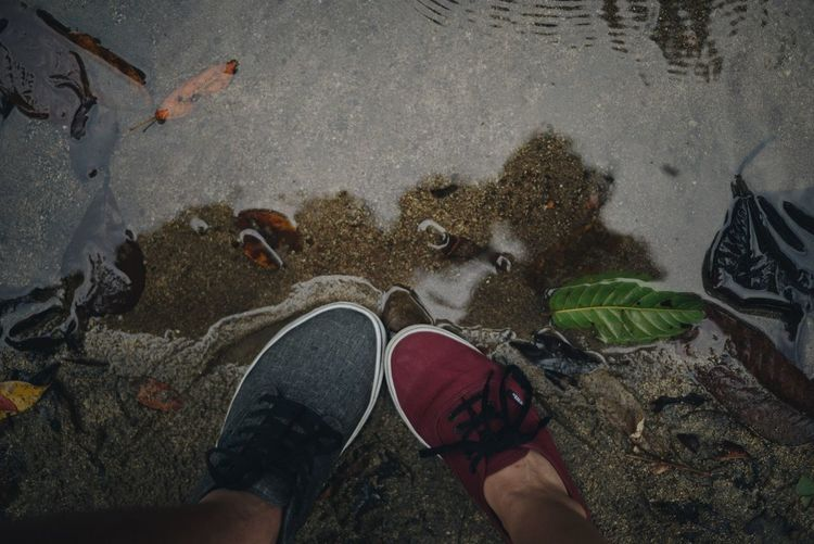 Footloose Low Section Human Leg Real People Shoe Personal Perspective My Best Photo High Angle View Nature Outdoors Human Foot