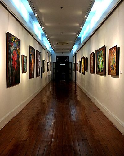 Arty Hallway Paintings On The Wall A Visit At The Museum Manila, Philippines