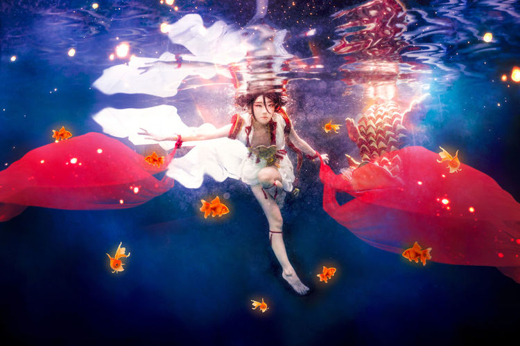 Adekan Water Underwater Swimming Pool People Blue Outdoors Only Women Floating Cosplay Portrait Girl Costume Adekan Manga Yoshiwara Shiro Asdgraphy Sony Meikon Housing Sony A6000 Alphauniverse Sonyalpha Sonyimages Malaysia Sonyphotography