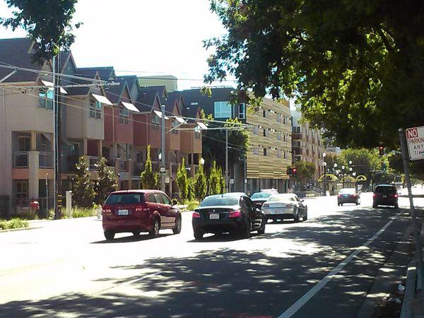 Traffic moves on down 12th Street through Alkali Flat, Downtown Sacramento  10.25.14