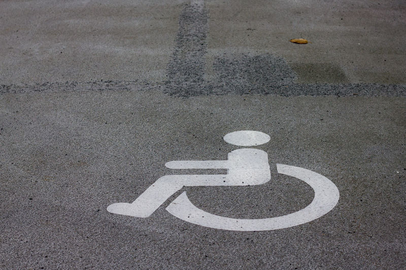 Asphalt City Disabled Parking Parking Lot Road Street Symbol Wheelchair