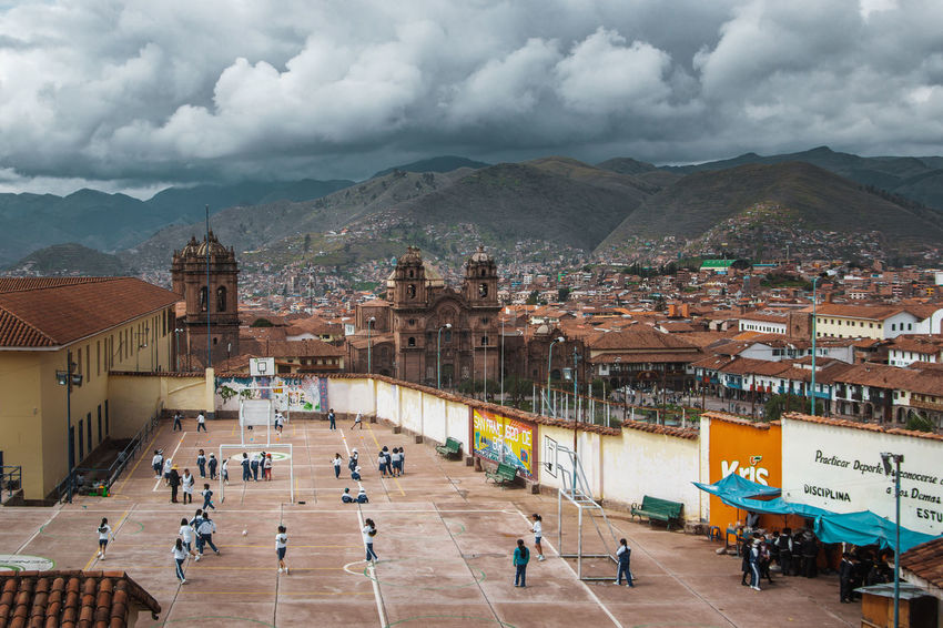 The beautiful view over Cusco. Andes Backpacking City Cityscape Exploring Inca Latin America Architecture Building Exterior Cityscape Class Classes Colonial Crowd Day Discover  Group Of People High Angle View Outdoors Real People School South America Sport Travel Destinations Urban The Great Outdoors - 2018 EyeEm Awards The Traveler - 2018 EyeEm Awards The Street Photographer - 2018 EyeEm Awards #urbanana: The Urban Playground