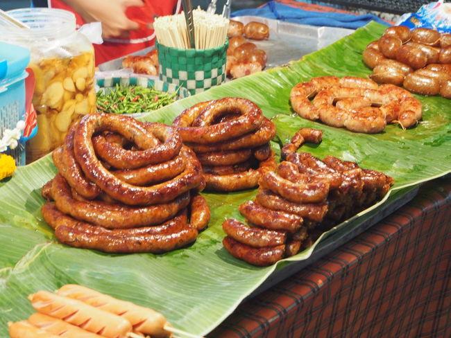 """Asgaew Thai Sausage Thai Food Streetfood Thai Street Food call """"Sai Auo"""" in Thai"""